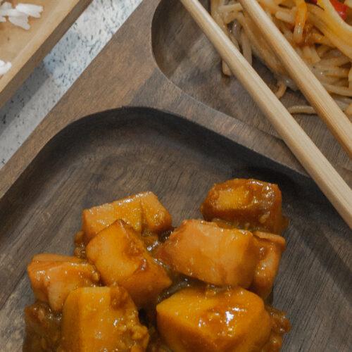 General Tso vegan soy free Tofu Thumbnail