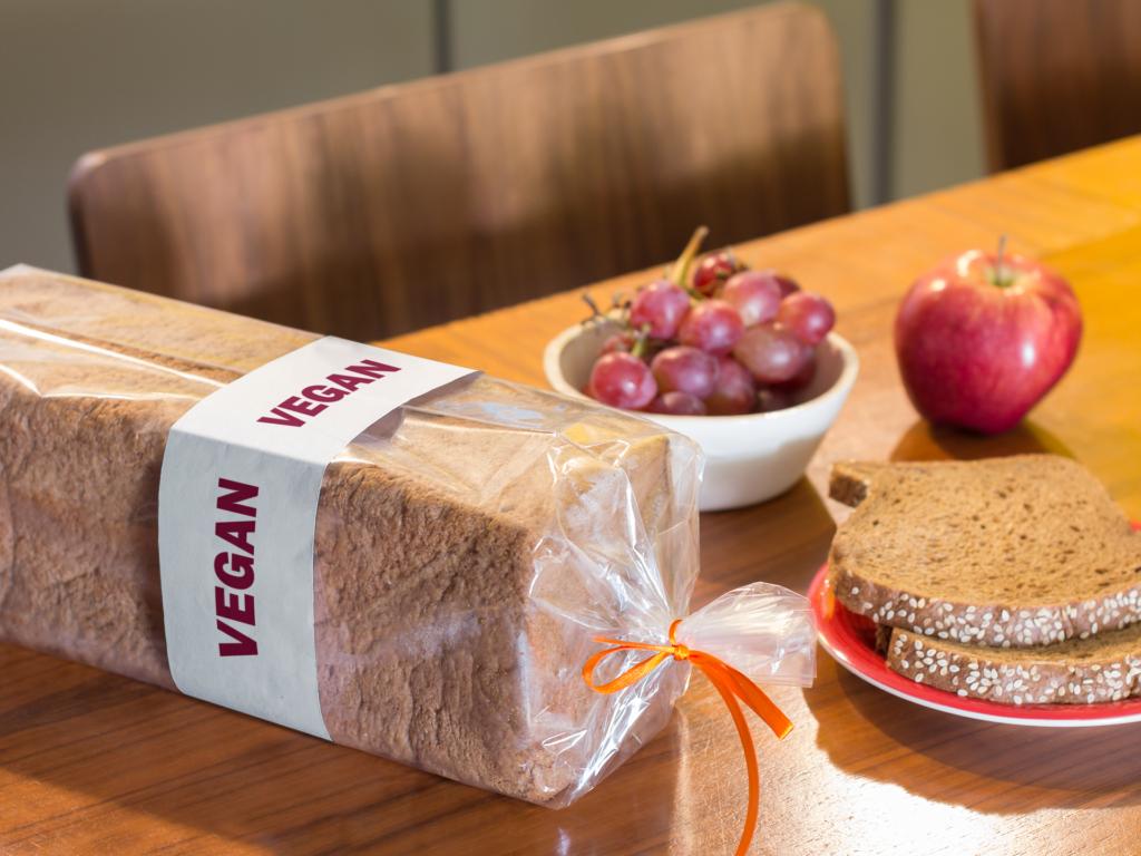 vegan bread label